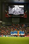19.09.2019 Rangers v Feyenoord: Rangers team hold a minutes silence for ex team mate Fernando Ricksen