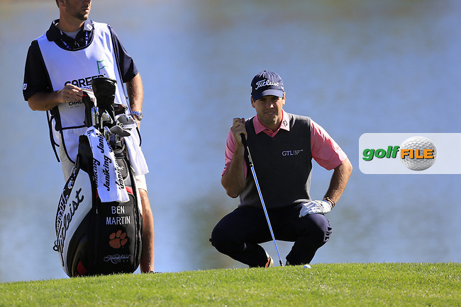 Ben Martin (USA) at the 18th green during Saturday's Round 3 of the 2017 CareerBuilder Challenge held at PGA West, La Quinta, Palm Springs, California, USA.<br /> 21st January 2017.<br /> Picture: Eoin Clarke | Golffile<br /> <br /> <br /> All photos usage must carry mandatory copyright credit (&copy; Golffile | Eoin Clarke)