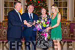 The Killarney Bar Association in association with the Kerry Law Society dinner. Pictured Pat F O'Connor chairman of Killarney Bar Association (left) and Jane O'Halloran secretary of KBA (right) photographed with guest of honour Supreme Court Judge Adrian Hardiman and his wife judge Yvonne Murphy in The Malton Hotel, Killarney last Friday night.