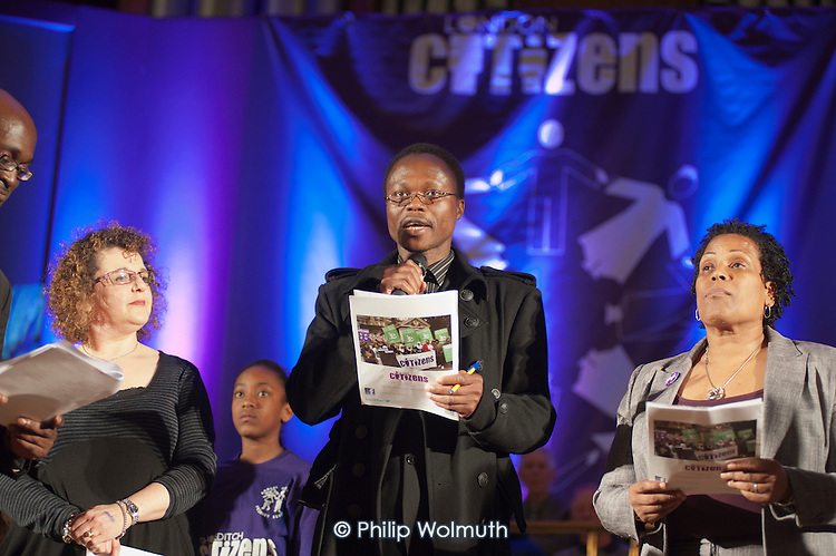 London Citizens Mayoral Accountability Assembly, Central Hall, Westminster.