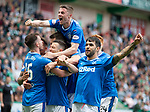 13.05.2018 Hibs v Rangers: Rangers celebrate goal no 4