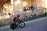 Sebastian Henao (COL) Team Ineos on the San Luca climb during Stage 1 of the 2019 Giro d'Italia, an individual time trial running 8km from Bologna to the Sanctuary of San Luca, Bologna, Italy. 11th May 2019.<br /> Picture: Eoin Clarke | Cyclefile<br /> <br /> All photos usage must carry mandatory copyright credit (© Cyclefile | Eoin Clarke)