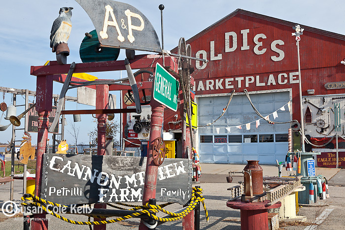 The Oldies Marketplace in downtown Newburyport, MA, USA