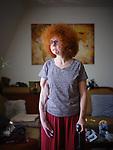 Germany, Berlin, 2019/04/17<br /> <br /> Beate Flanz,in ihrer Wohnung in Berlin. <br /> (Photo by Gregor Zielke)