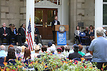 Nevada Sen. Greg Brower, R-Reno, speaks at the USS Nevada Centennial of Launch ceremony at the Capitol, in Carson City, Nev., on Friday, July 11, 2014.<br /> Photo by Cathleen Allison
