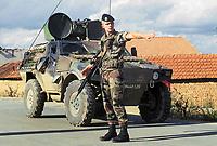 - Kosovo, checkpoint of the French army near Mitroviza town<br /> <br /> <br /> <br /> - Kossovo, checkpoint dell'esercito francese presso la città di Mitroviza