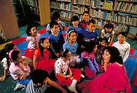 THIRD GRADE CLAA IN SPANISH HARLEM REPEATS A POEM FOR THEIR TEACHER. THIRD GRADE CLASS +TEACHER. NEW YORK NEW YORK.
