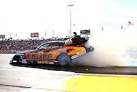 May 31, 2013; Englishtown, NJ, USA: NHRA funny car driver Tony Pedregon during qualifying for the Summer Nationals at Raceway Park. Mandatory Credit: Mark J. Rebilas-
