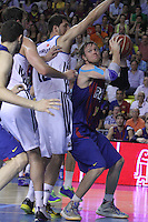 14.06.2013 Bacelona, Spain. Liga Endesa Play Off titulo. Picture show Wallace in action during game betwen FC BArcelona v Real Madrid at Palau Blaugrana
