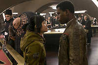 Star Wars: The Last Jedi (2017)<br /> KELLY MARIE TRAN, JOHN BOYEGA<br /> *Filmstill - Editorial Use Only*<br /> CAP/FB<br /> Image supplied by Capital Pictures