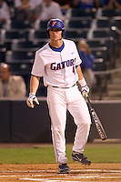 "Florida Gators Nolan Fontana #4 during a game vs. the Florida State Seminoles in the ""Florida Four"" at George M. Steinbrenner Field in Tampa, Florida;  March 1, 2011.  Florida State defeated Florida 5-3.  (Mike Janes/Four Seam Images)"