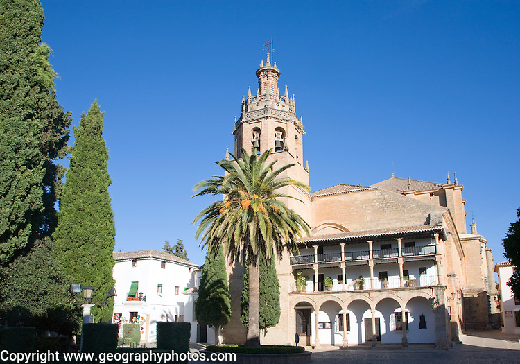 Historic church once a Moorish mosque Iglesia de Santa Maria la Mayor, Ronda, Spain