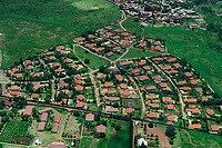 UGANDA, Kampala, aerial view of gated community