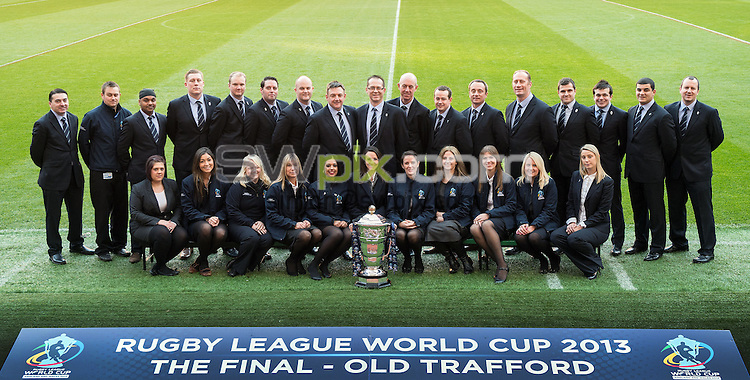 Picture by Paul Currie/SWpix.com - 30/11/2013 - Rugby League - 2013 Rugby League World Cup Final - New Zealand v Australia - Old Trafford, Manchester, England - RLWC2013 Staff.
