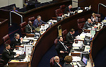 Senate floor activitiy at the Legislative Building in Carson City, Nev., on Sunday, June 2, 2013. <br /> Photo by Cathleen Allison