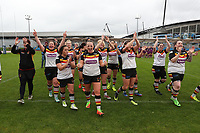 Picture by Paul Currie/SWpix.com - 07/10/2017 - Rugby League - Women's Super League Grand Final - Bradford Bulls v Featherstone Rovers - Regional Arena, Manchester, England - Bradford celebrate at the final whistle