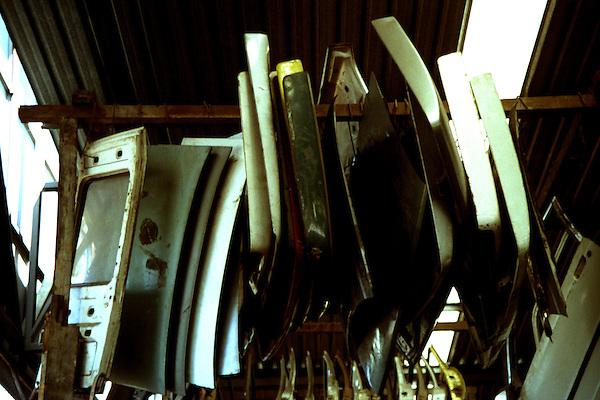Belo Horizonte_MG, Brasil...Pecas em um ferro velho em Belo Horizonte...Objects in the junkyard in Belo Horizonte...Foto: LEO DRUMOND / NITRO