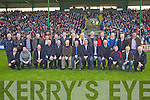 The 1986 Saint Brendans Team who were honoured at Austin Stack Park on Sunday Front L to R; Patrick Riordan, Stephen Leen(for Patrick Curran RIP), Sean Donoghue( represents his son Dan), Eamon Fitzgerald, Mike Fitzgerald, John Crowley, Gerald Mahony, Pat Dowling, Mike Casey, Joe Stack, .Mike Crowley, Liam O'Connor and Stan McCarthy..Back L to R; Paddy O'Connor, Jimmy Casey, Jim Crowley, Sean Ryan, Sean McCrohan, Gerard Hussey,.Liam Hussey, Philly Stack, Eugene McCarthy, Gerard Pierce, Maurice Crowley, Tommy O'Connor Phil Healy and Brendan Courtney..