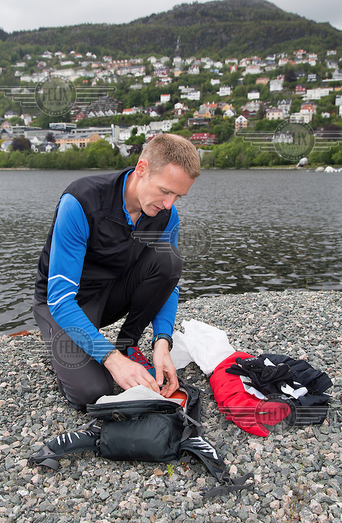 Rescue paramedic Asle Stens&aelig;ter<br /> <br /> &copy;Fredrik Naumann/Felix Features