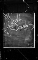 Hammersmith  Great Britain.<br /> &quot;Wind patterns&quot; drawn on a Black Board, on the door of the London Corinthians Sailing Club. <br /> Round and About - Sons Of the Thames RC<br /> <br /> Saturday  23/04/2016<br /> <br /> [Mandatory Credit; Peter Spurrier/Intersport-images]