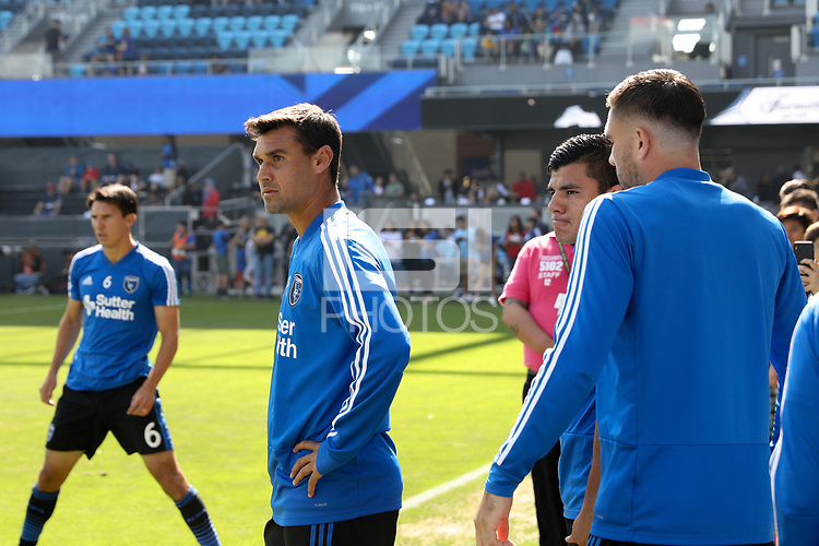 San Jose, CA - Sunday October 21, 2018: Chris Wondolowski prior to a Major League Soccer (MLS) match between the San Jose Earthquakes and the Colorado Rapids at Avaya Stadium.