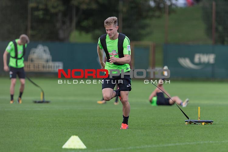 22.08.2017, Trainingsgelaende, Bremen, GER, 1.FBL, Training SV Werder Bremen<br /> <br /> im Bild<br /> Johannes Eggestein (Werder Bremen #24), <br /> <br /> Foto &copy; nordphoto / Ewert