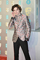 LONDON, UK - FEBRUARY 10: Timothée Chalamet at the 72nd British Academy Film Awards held at Albert Hall on February 10, 2019 in London, United Kingdom. Photo: imageSPACE/MediaPunch<br /> CAP/MPI/IS<br /> ©IS/MPI/Capital Pictures