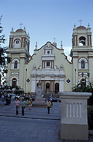 The cathedral and Parque Central in San Pedro Sula Honduras