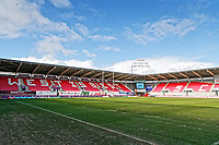 Pictured: Interior view of Parc Y Scarlets. Wednesday 09 March 2018<br /> Re: The effect that the Scarlets RFC has had in the town of Llanelli in Carmarthenshire and the west Wales region.