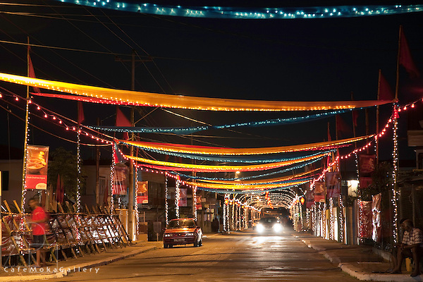 Decorated street, Divali, Hindu festival of light,