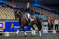 Chanel Flyger rides Hot Chocolate MH during the Intermediate 1 Dressage. 2019 Equitana Auckland. ASB Showgrounds. Auckland. New Zealand. Friday 22 November. Copyright Photo: Libby Law Photography