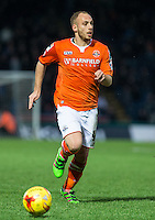 Jake Howells of Luton Town in action during the Sky Bet League 2 match between Wycombe Wanderers and Luton Town at Adams Park, High Wycombe, England on 6 February 2016. Photo by Andy Rowland.