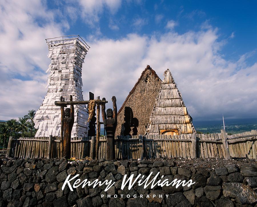 Ahuena Heiau, Ahu'ena Hawaiian Temple, Kailua Kona, Big Island, Hawaii, USA.