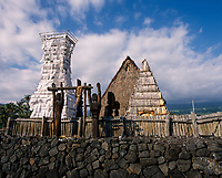 Ahuena Heiau, Ahu'ena Hawaiian Temple, Kailua Kona, Big Island, Hawaii, USA.
