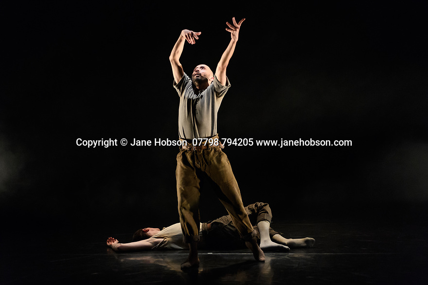 """""""Man To Monk"""", dance artist Mavin Khoo's latest piece, gets its world premiere in the Lilian Baylis Studio, at Sadler's Wells Theatre. Man to Monk is a four year project tracing the performative shift of dance artist Mavin Khoo. Partnered with a guest dancer for two new works created by commissioned choreographers, Khoo intends to challenge both Western and Eastern ideas about dance creation thourgh a 'lived experience' creative process. The choreographer for this piece is Carlos Pons Guerra, and the guest dancer is Victor Callens."""