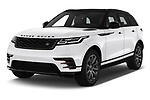 2019 Land Rover Range Rover Velar Dynamic SE 5 Door SUV angular front stock photos of front three quarter view
