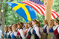 Svenskarnas Dag Girls Choir singing. Svenskarnas Dag Swedish Heritage Day Minnehaha Park Minneapolis Minnesota USA