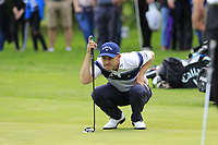 Stuart Manley (WAL) on the 16th green during Sunday's Final Round of the Northern Ireland Open 2018 presented by Modest Golf held at Galgorm Castle Golf Club, Ballymena, Northern Ireland. 19th August 2018.<br /> Picture: Eoin Clarke | Golffile<br /> <br /> <br /> All photos usage must carry mandatory copyright credit (&copy; Golffile | Eoin Clarke)