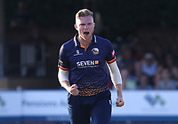 Sam Cook of Essex celebrates taking the wicket of Michael Burgess during Essex Eagles vs Sussex Sharks, Vitality Blast T20 Cricket at The Cloudfm County Ground on 4th July 2018