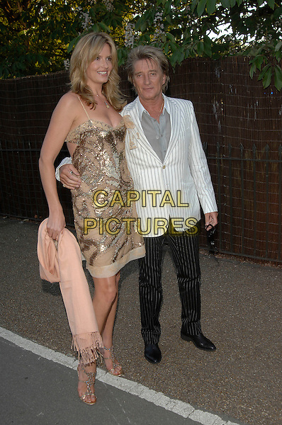 PENNY LANCASTER, ROD STEWART  .Serpentine Gallery Summer Party, Kensington Park Gardens.11th July 2007 London, England.full length.Ref:CAP/PL.©Phil Loftus/Capital Pictures