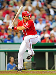 28 August 2010: Washington Nationals third baseman Ryan Zimmerman at bat against the St. Louis Cardinals at Nationals Park in Washington, DC. The Nationals defeated the Cards 14-5 to take the third game of their 4-game series. Mandatory Credit: Ed Wolfstein Photo