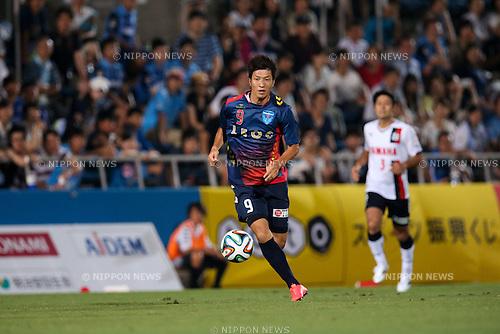 Masaru Kurotsu (Yokohama FC), <br /> JULY 26, 2014 - Football /Soccer : <br /> 2014 J.LEAGUE Division 2 <br /> between Yokohama FC 4-0 Jubilo Iwata <br /> at NHK Spring Mitsuzawa Football Stadium, Kanagawa, Japan. <br /> (Photo by AFLO SPORT) [1205]