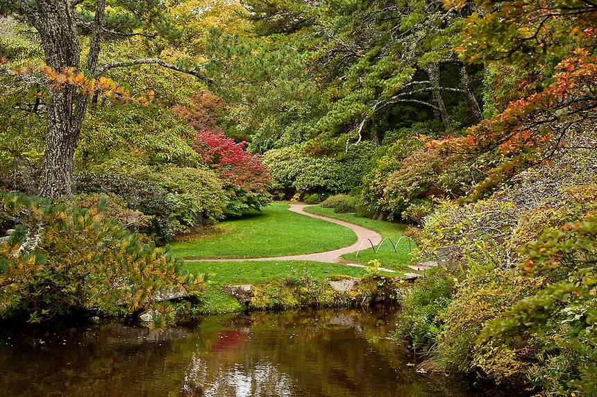 Asticou Azalea Garden, public, Northeast Harbor, Maine, USA
