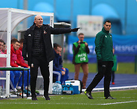 16th November 2019; Leckwith Stadium, Cardiff, Glamorgan, Wales; European Championship Under 19 2020 Qualifiers, Russia under 19s versus Wales under 19s; Robert Edwards, Coach of Wales Under 19 gives instructions to his players - Editorial Use