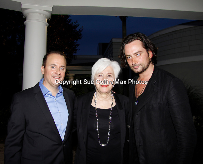 Founder Nick Katsoris & Olympia Dukakis (Search for Tomorrow) & Constantine Maroulis (Bold and the Beautiful) & American Idol at The Loukoumi Make a Difference Foundation  - A Celebration 10 years in the Making - Dance Party and Make a Difference Awards on June 17, 2015 at Lake Isle Country Club, Eastchester, New York. (Photos by Sue Coflin/Max Photos)