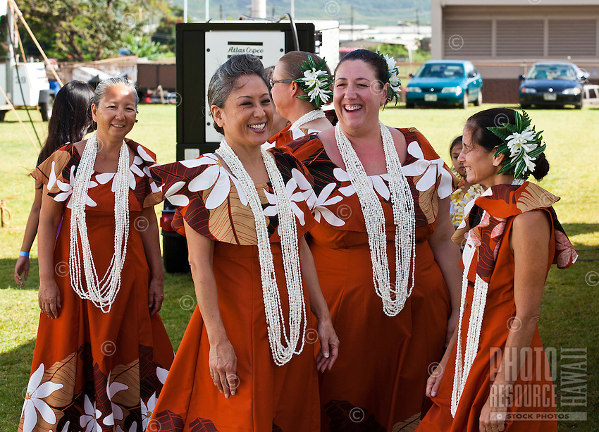 Hula dancers at the 2011 Kauai Polynesian Festival