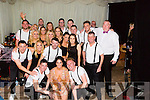 The 22 dancers with Big Jim MC of the Strictly Come Dancing to raise funds for Kerry Hurlers at The Marquee Stretford End Bar,Causeway on Saturday night, l-r Front Eoin Sayers,Liam O'Sullivan and Luke Mulligan. Back l-r: Niamh Daly,Mary Wallace,Cathy Sheehan,Kate Feeney and Stephanie Schwenn.