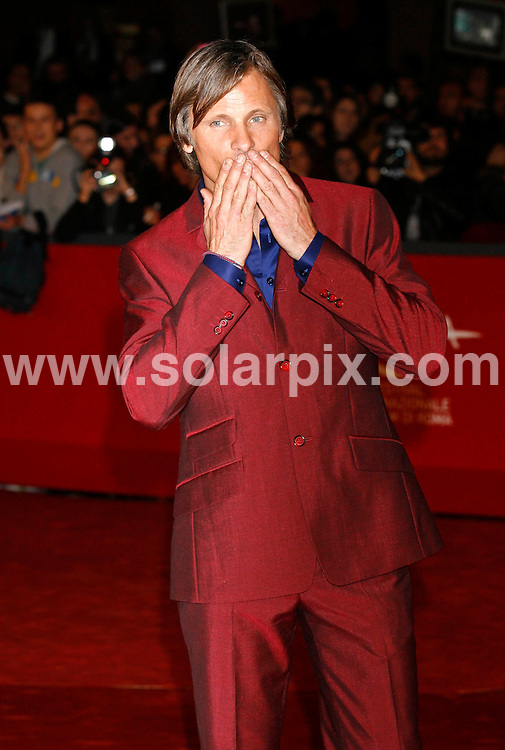 **ALL ROUND PICTURES FROM SOLARPIX.COM**.**SYNDICATION RIGHTS FOR UK AND SPAIN ONLY**.attending the 'Appaloosa' premiere during the 3rd Rome Film Festival. Rome, Italy. 26th October 2008..This pic: Viggo Mortensen..JOB REF: 7713 CPR (Heinz)    DATE: 25_10_2008.**MUST CREDIT SOLARPIX.COM OR DOUBLE FEE WILL BE CHARGED* *UNDER NO CIRCUMSTANCES IS THIS IMAGE TO BE REPRODUCED FOR ANY ONLINE EDITION WITHOUT PRIOR PERMISSION*