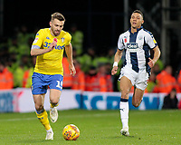 Leeds United's Stuart Dallas gets away from West Bromwich Albion's Kieran Gibbs<br /> <br /> Photographer David Shipman/CameraSport<br /> <br /> The EFL Sky Bet Championship - West Bromwich Albion v Leeds United - Saturday 10th November 2018 - The Hawthorns - West Bromwich<br /> <br /> World Copyright &copy; 2018 CameraSport. All rights reserved. 43 Linden Ave. Countesthorpe. Leicester. England. LE8 5PG - Tel: +44 (0) 116 277 4147 - admin@camerasport.com - www.camerasport.com