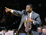 Assistant coach Shawn Hood of the University of Wisconsin looks on against the Xavier Musketeers at the Kohl Center in Madison, WI, on 12/15/2000. (Photo by David Stluka)